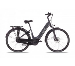 Ebike Das Original City 007 Wave /active Plus / Intube 400 Wh / Intuv, Titan Grey - Black - Silver Ma