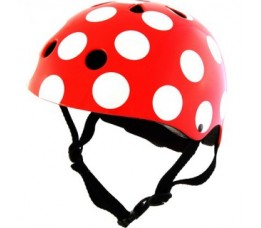 Kiddimoto Kiddimoto Helm Red Dotty Small Rood/wit